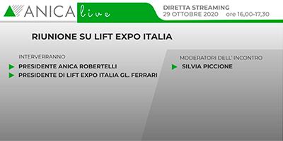 RIUNIONE LIFT EXPO ITALIA – 29 ottobre 2020 h. 16.00/17.30
